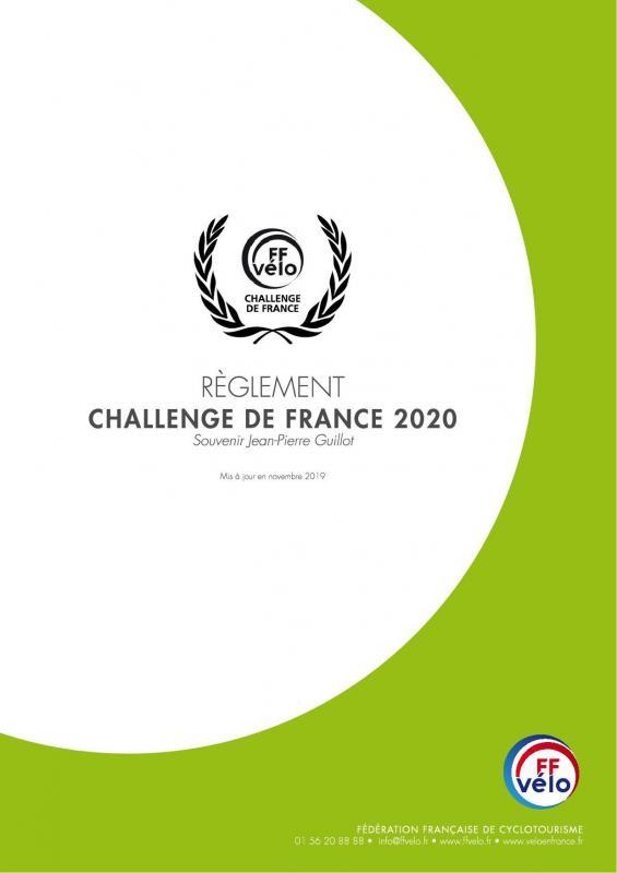Reglement challenge de france 2020