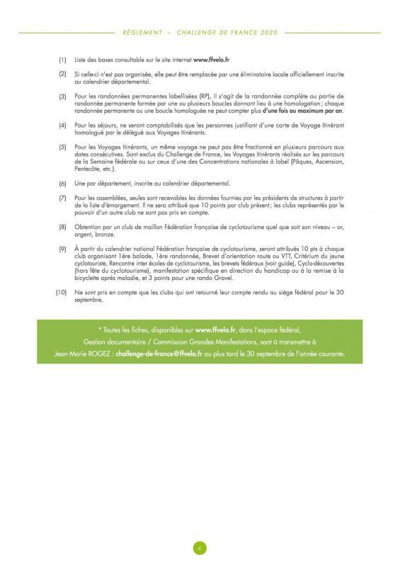Reglement challenge de france 20204